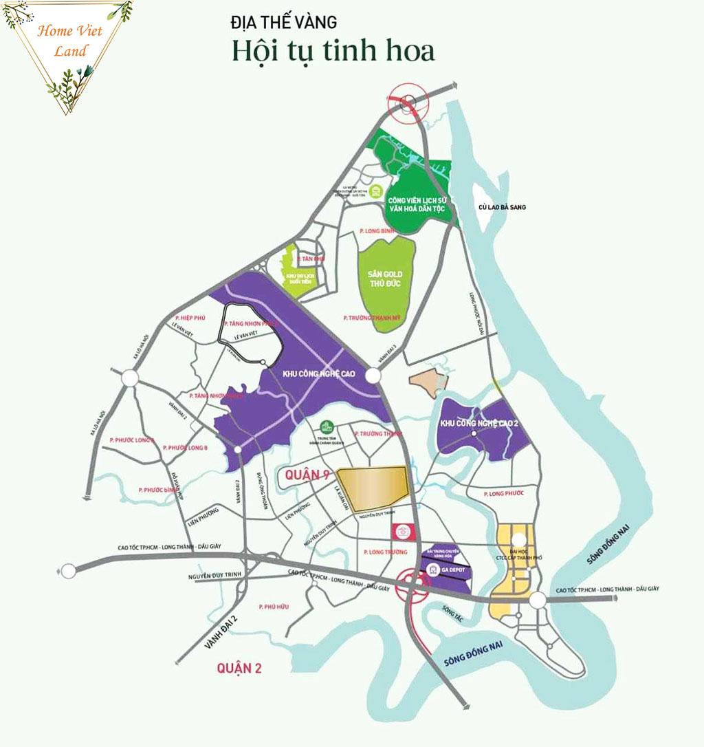 Vị trí Căn hộ Tecco Vina Garden Quận 9