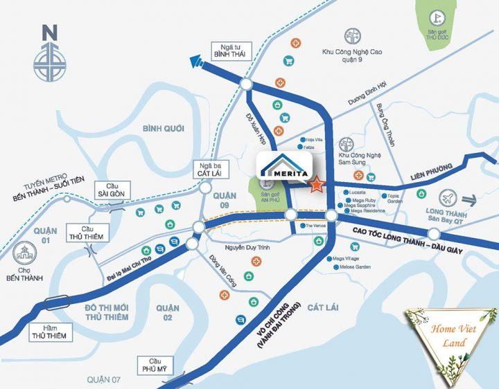Bản đồ đường Liên Phường