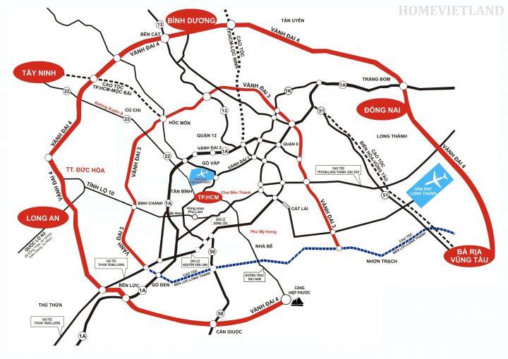 Kết nối các tỉnh với Bản đồ đường Vành Đai 3 TP HCM