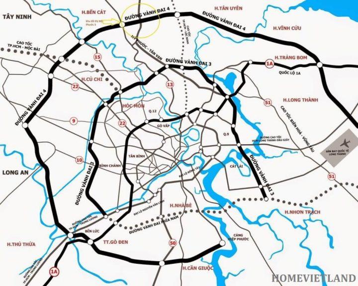 Liên kết vùng Bản đồ đường Vành Đai 3 TP HCM