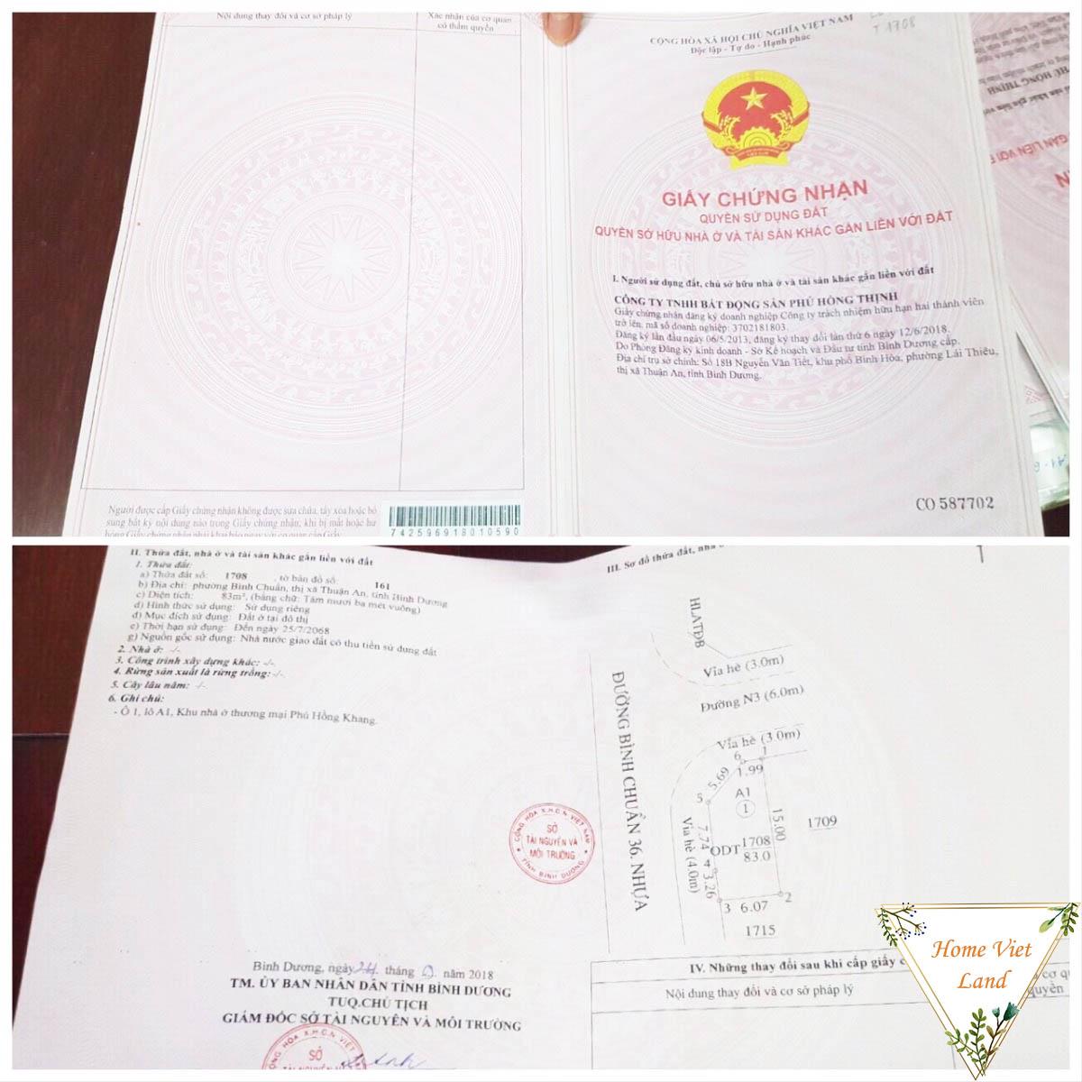 Pháp lý dự án Phú Hồng Phát - Phú Hồng Lộc
