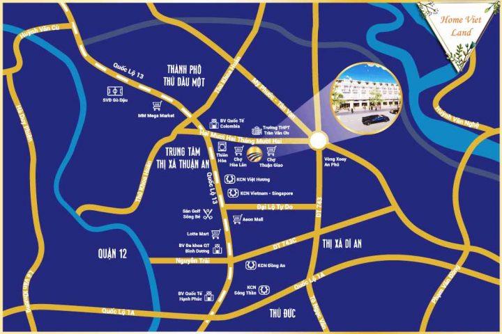 Vị trí Lộc Phát Residence