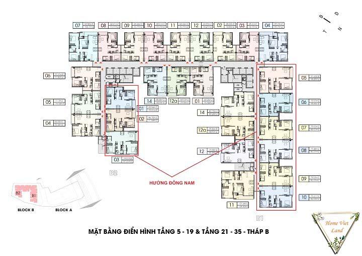 Tầng 5 - 35 tháp B