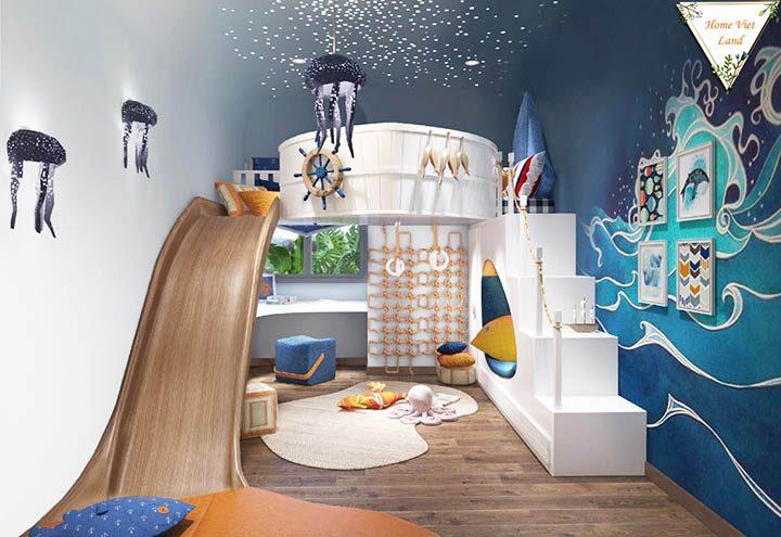 Thiết kế 3D phòng ngủ trẻ em