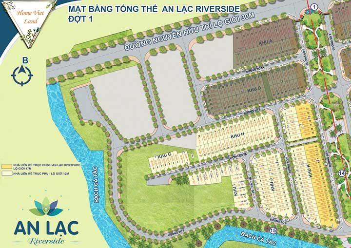 Mặt bằng Dự án Khu dân cư An Lạc Riverside