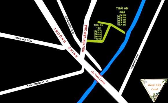 Vị trí chung cư Thái An