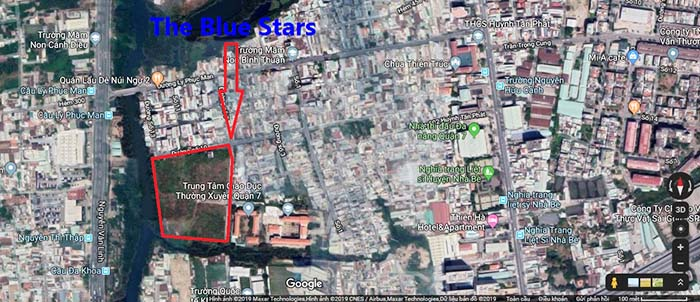 Vị trí The Blue Stars