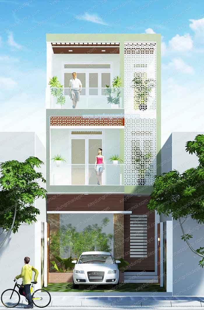 Alva Plaza Bình Dương - Phối cảnh nhà phố 1 trệt 2 lầu