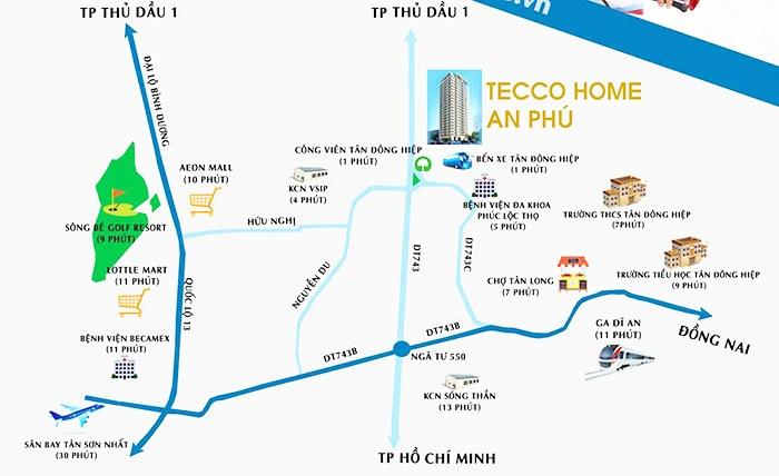 Vị trí Tecco Home An Phú