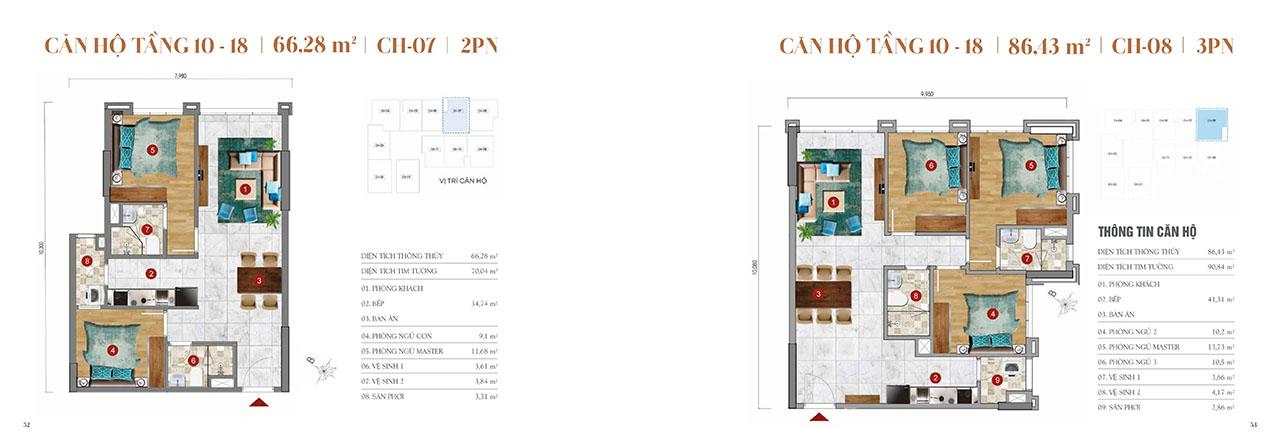 Thiết kế căn hộ 2-3PN ST Moritz