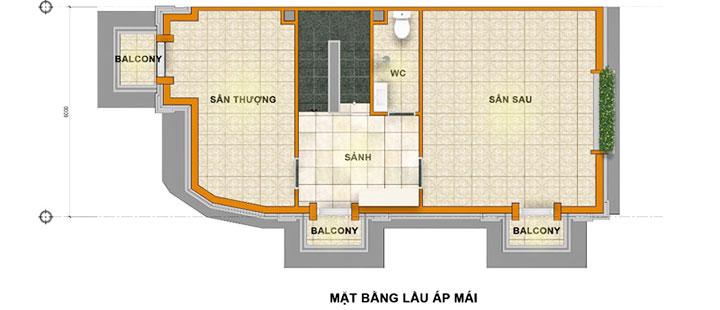 Thiết kế Tầng mái