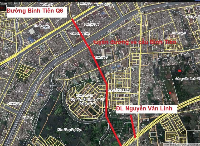 Cầu Bình Tiên quy hoạch